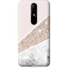 Чехол на Nokia 5.1 Plus Пастельный мрамор (4342u-1543)