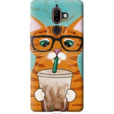 Чехол на Nokia 7 Plus Зеленоглазый кот в очках (4054u-1354)