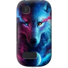 Чехол на Nokia Asha 200 Арт-волк (3999u-247)