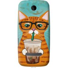 Чехол на Nokia Asha 305 / 306 Зеленоглазый кот в очках (4054u-248)