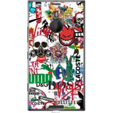 Чехол на Nokia Lumia 1520 Many different logos (4022u-314)