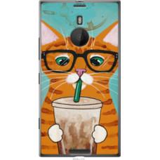 Чехол на Nokia Lumia 1520 Зеленоглазый кот в очках (4054u-314)