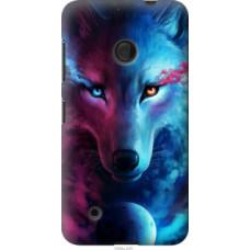 Чехол на Nokia Lumia 530 Арт-волк (3999u-205)