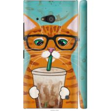 Чехол на Nokia Lumia 730 Зеленоглазый кот в очках (4054c-204)