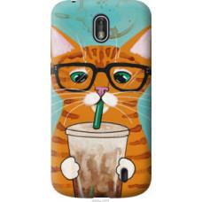 Чехол на Nokia 1 Зеленоглазый кот в очках (4054u-1373)