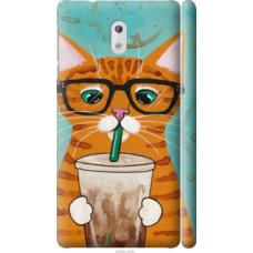Чехол на Nokia 3 Зеленоглазый кот в очках (4054c-818)