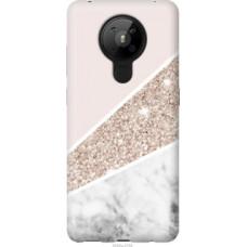 Чехол на Nokia 5.3 Пастельный мрамор (4342u-2102)