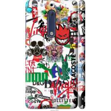 Чехол на Nokia 5 Many different logos (4022c-804)