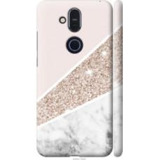 Чехол на Nokia 8.1 Пастельный мрамор (4342c-1620)