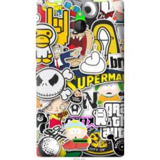 Чехол на Nokia X2 Dual SIM Popular logos (4023u-469)