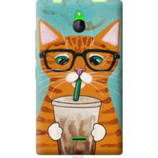 Чехол на Nokia X2 Dual SIM Зеленоглазый кот в очках (4054u-469)