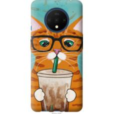 Чехол на OnePlus 7T Зеленоглазый кот в очках (4054u-1809)