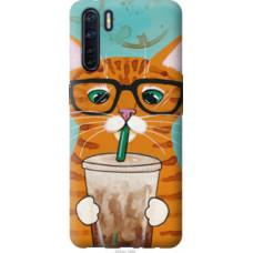 Чехол на Oppo A91 Зеленоглазый кот в очках (4054u-1884)