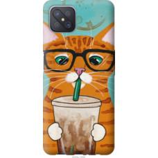 Чехол на Oppo Reno 4 Z Зеленоглазый кот в очках (4054u-2278)