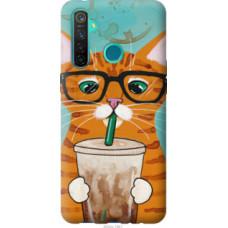 Чехол на Realme 5 Pro Зеленоглазый кот в очках (4054u-1861)