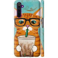 Чехол на Realme 6 Pro Зеленоглазый кот в очках (4054c-1893)