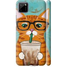 Чехол на Realme C11 Зеленоглазый кот в очках (4054c-2031)
