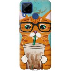 Чехол на Realme C15 Зеленоглазый кот в очках (4054u-2063)