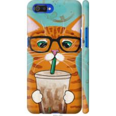 Чехол на Realme C2 Зеленоглазый кот в очках (4054c-1852)