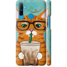Чехол на Realme C3 Зеленоглазый кот в очках (4054c-1889)