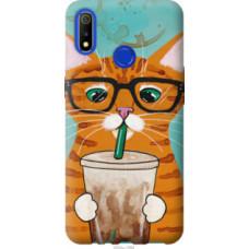 Чехол на Realme 3 Зеленоглазый кот в очках (4054u-1869)