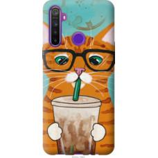 Чехол на Realme 5 Зеленоглазый кот в очках (4054c-1862)