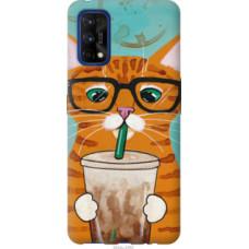Чехол на Realme 7 Pro Зеленоглазый кот в очках (4054u-2082)