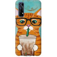 Чехол на Realme 7 Зеленоглазый кот в очках (4054u-2081)