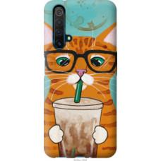 Чехол на Realme X50 Зеленоглазый кот в очках (4054u-1894)