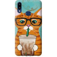 Чехол на Samsung Galaxy A10s A107F Зеленоглазый кот в очках (4054u-1776)