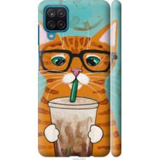 Чехол на Samsung Galaxy A12 A125F Зеленоглазый кот в очках (4054c-2201)