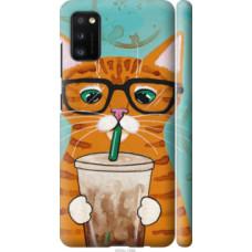 Чехол на Samsung Galaxy A41 A415F Зеленоглазый кот в очках (4054c-1886)