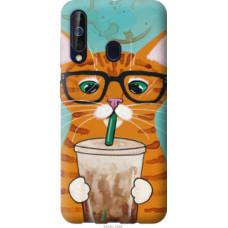 Чехол на Samsung Galaxy A60 2019 A606F Зеленоглазый кот в очках (4054u-1699)