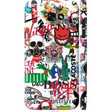 Чехол на Samsung Galaxy A7 (2017) Many different logos (4022c-445)
