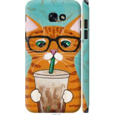 Чехол на Samsung Galaxy A7 (2017) Зеленоглазый кот в очках (4054c-445)