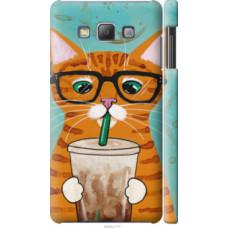 Чехол на Samsung Galaxy A7 A700H Зеленоглазый кот в очках (4054c-117)