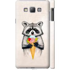 Чехол на Samsung Galaxy A7 A700H Енотик с мороженым (4602c-117)