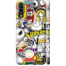 Чехол на Samsung Galaxy A70 2019 A705F Popular logos (4023c-1675)