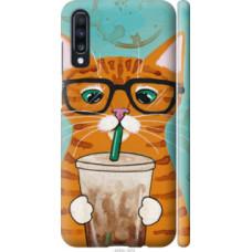 Чехол на Samsung Galaxy A70 2019 A705F Зеленоглазый кот в очках (4054c-1675)