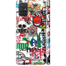 Чехол на Samsung Galaxy A71 2020 A715F Many different logos (4022c-1826)