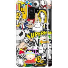 Чехол на Samsung Galaxy A8 2018 A530F Popular logos (4023c-1344)