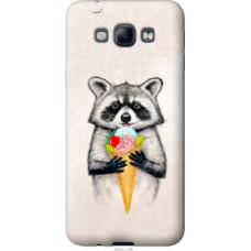 Чехол на Samsung Galaxy A8 A8000 Енотик с мороженым (4602u-135)