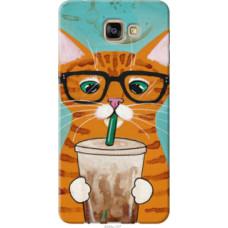 Чехол на Samsung Galaxy A9 Pro Зеленоглазый кот в очках (4054u-724)