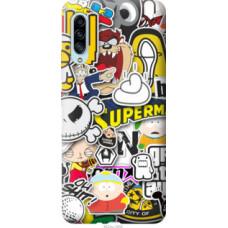 Чехол на Samsung Galaxy A90 5G Popular logos (4023u-1800)