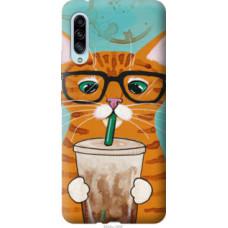 Чехол на Samsung Galaxy A90 5G Зеленоглазый кот в очках (4054u-1800)