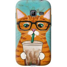 Чехол на Samsung Galaxy Ace Duos S6802 Зеленоглазый кот в очках (4054u-253)