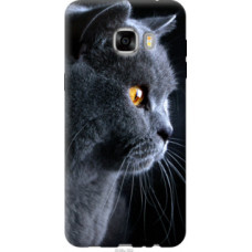 Чехол на Samsung Galaxy C7 C7000 Красивый кот (3038u-302)