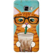 Чехол на Samsung Galaxy C7 C7000 Зеленоглазый кот в очках (4054u-302)