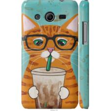 Чехол на Samsung Galaxy Core 2 G355 Зеленоглазый кот в очках (4054c-75)