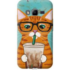 Чехол на Samsung Galaxy J1 Mini Prime J106 Зеленоглазый кот в очках (4054u-632)